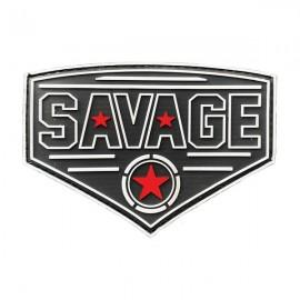 SAVAGE BARBELL - Diamond Red Star PVC Velcro Patch