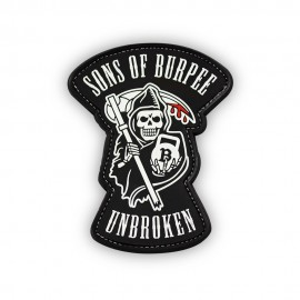 """DR WOD """"Sons of Burpee"""" Rubber Velcro Patch"""