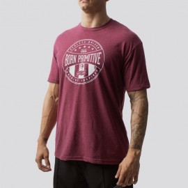 "BORN PRIMITIVE - T-shirt Homme ""ATHLETE DRIVEN"" Heather Maroon"