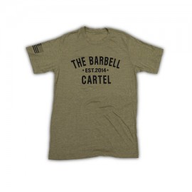 """THE BARBELL CARTEL - T-shirt Homme """"CLASSIC LOGO"""" Military Green"""