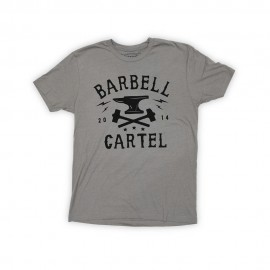 """THE BARBELL CARTEL - T-shirt Homme """"ANVIL"""" Stone Gray"""