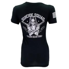 "SAVAGE BARBELL - T-Shirt Femme ""Suicide Squad"" Black"