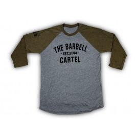 """THE BARBELL CARTEL - T-shirt de Baseball """"CLASSIC LOGO"""" Green"""