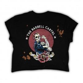 "THE BARBELL CARTEL - Crop T-shirt ""Propaganda"""