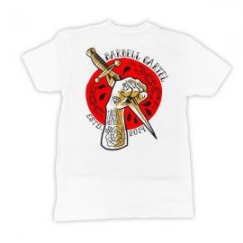 """THE BARBELL CARTEL - T-shirt Homme """"DAGGER"""" White"""