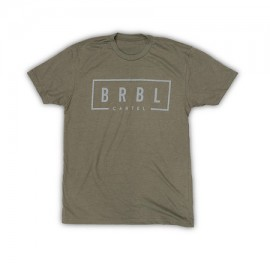 """THE BARBELL CARTEL - T-shirt Homme """"BRBL"""" Military Green"""