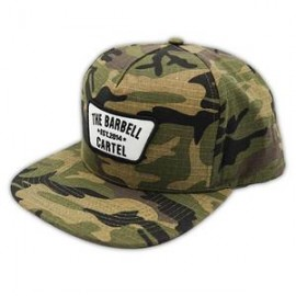 """THE BARBELL CARTEL - Casquette """"SNAPBACK"""" Woodland Camo"""