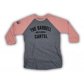 """THE BARBELL CARTEL - T-shirt de Baseball """"CLASSIC LOGO"""" Pink"""