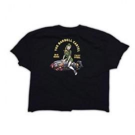 """THE BARBELL CARTEL - Crop T-shirt """"Bomber Girl"""""""