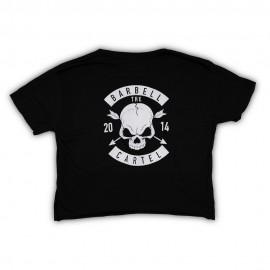 "THE BARBELL CARTEL - Crop T-shirt ""Skull & Arrow"""