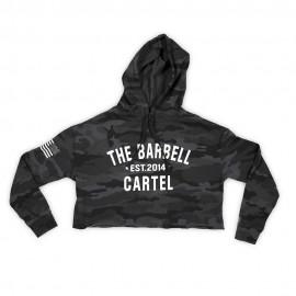 """THE BARBELL CARTEL - Crop Hoodie """"Camo"""""""