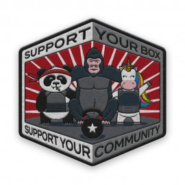 """DR WOD - """"Support your Box"""" velcro Patch"""