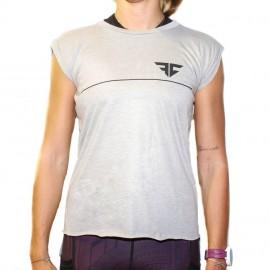 """FRAN CINDY - T-shirt Femme """"GREY STONE"""""""