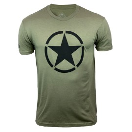 """SAVAGE BARBELL - T-Shirt Homme """"American Savage"""" Green"""